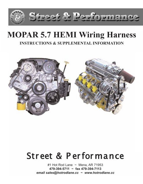 MOPAR 57 HEMI Wiring Harness Street  Performance