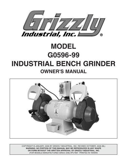 Grizzly Bench Grinder Wiring Diagram Bench Grinder Wheels, Dayton