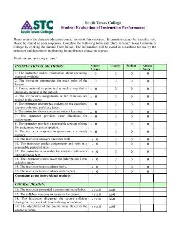 Instructor Evaluation Form Sample wwwpicturesso
