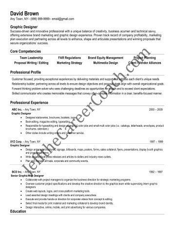 graphic artist resume samples