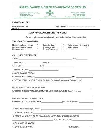 Normal Loan Application form-2.pmd - Hazina Sacco Society Ltd