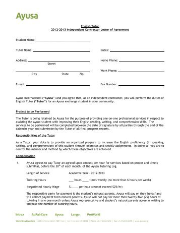 Sample Independent Contractor Agreement General Contract Agreement
