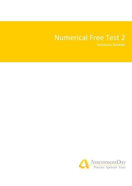 Numerical Free Test 2 - Aptitude Test