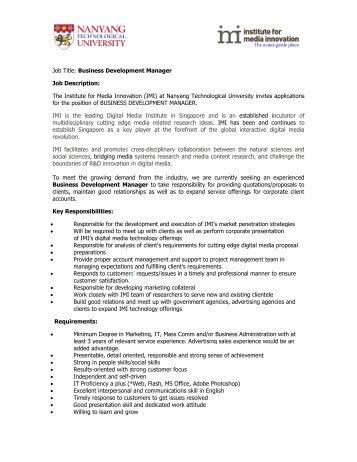 small business manager job description