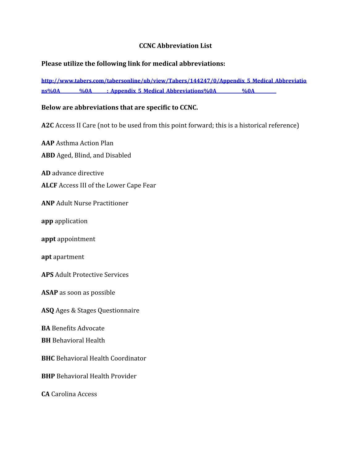Medical abbreviations poa - Download Medical Abbreviation Aps Communitycarepartners Org