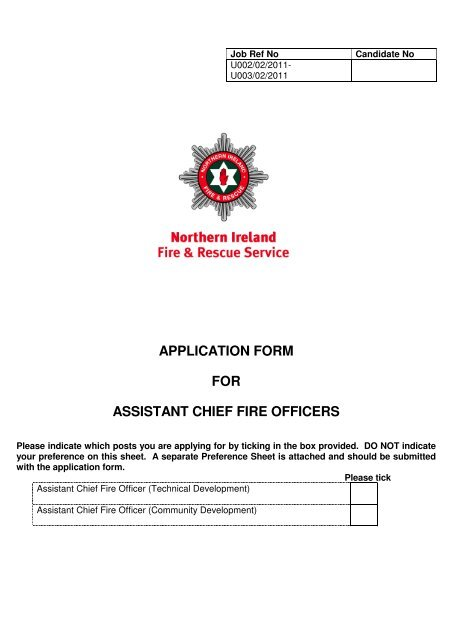 Application Form - PDF format - Northern Ireland Fire  Rescue