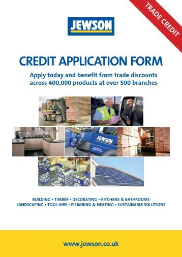 Credit Application Form Jewson Builders Credit Facility Application Form Stoncor Africa