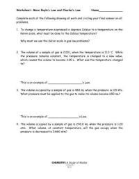 Charles Law Worksheet Answers. Worksheets. Kristawiltbank ...