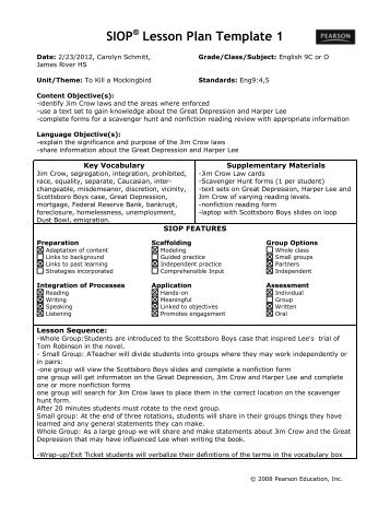 Sample Siop Lesson Plan Template Sample Music Lesson Plan - sample music lesson plan template