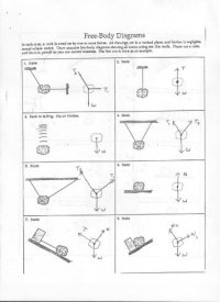Free Body Diagram Worksheet With Answers Free Worksheets ...