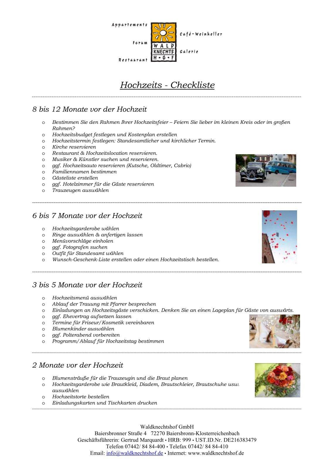 Hochzeits Checkliste Pdf Checkliste Hochzeit Zum Abhaken Perfect