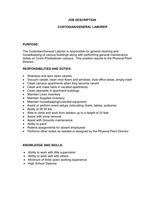 general laborer job description