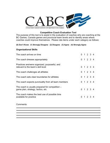 Free Application Forms » coaching evaluation form Application Forms