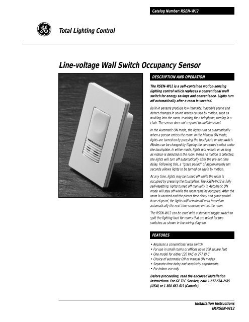 Line-Voltage Wall Switch Occupancy Sensor - Chipkin Automation