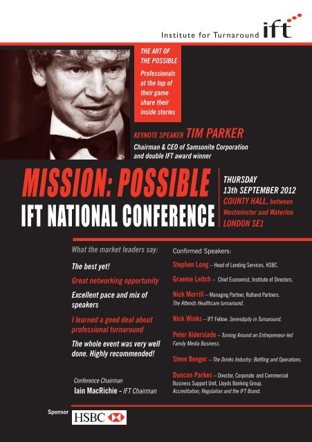 MISSION-POSSIBLE booking flyerpdf - Institute For Turnaround