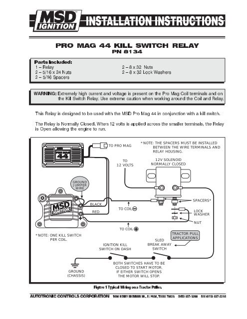 Pro Mag 44 Kill Switch Relay Wiring Diagram - MSD Pro-Mag