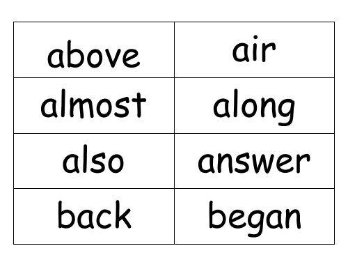 3rd grade sight word flash cardspdf