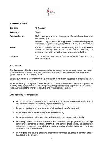 pr manager job description - Nisatasj-plus