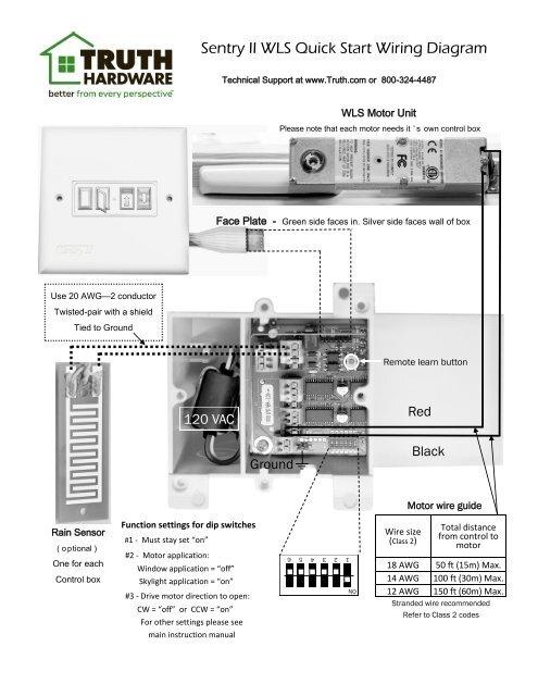 Sentry II WLS Quick Start Wiring Diagram - Truth Hardware