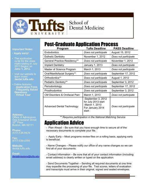 Post-Graduate Application Process Application Advice