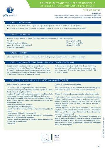 cv pdf pole emploie