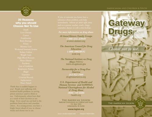 Gateway Drugs brochure - American Legion