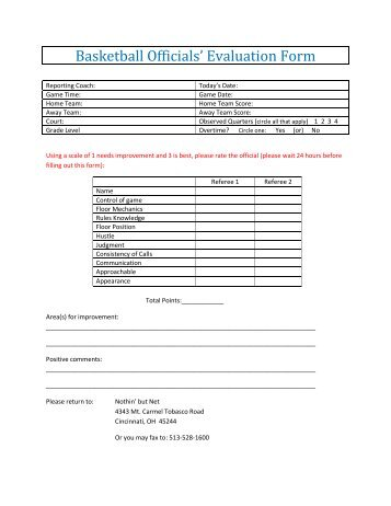 Basketball Evaluation Forms Wwwpicturesso cvfreeletters