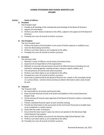Booster Club Bylaws Template index of cdn 3 2006 990. club bylaws ...