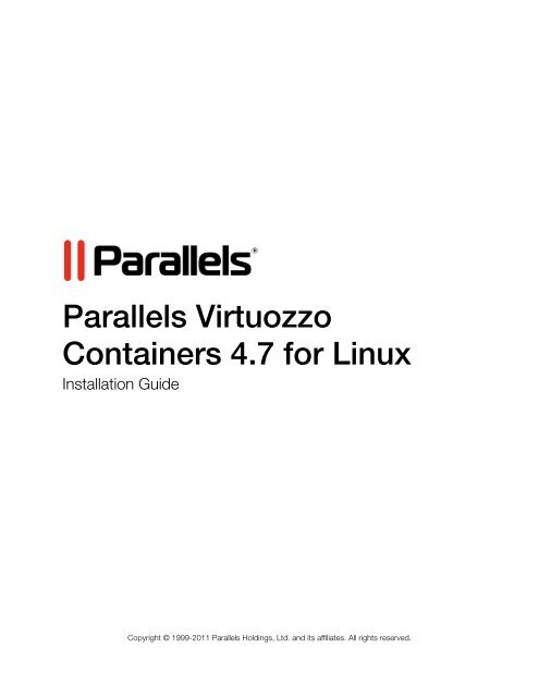 Parallels Virtuozzo Containers 47 for Linux