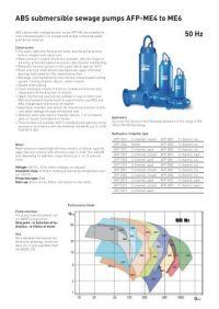 ABS submersible sewage pump XFP 100J