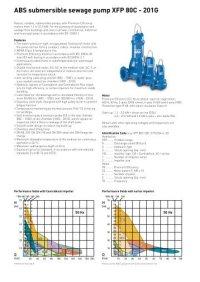 ABS submersible sewage pump XFP 100J - 600X 50 Hz - Sulzer