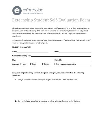 ... Student Self Evaluation Form   Asliaetherair ...