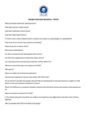examples of interview questions and answers - Pinarkubkireklamowe
