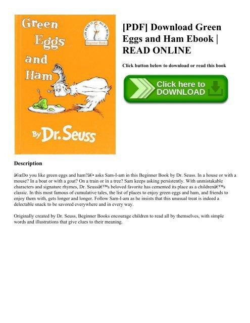 PDF Download Green Eggs and Ham Ebook READ ONLINE