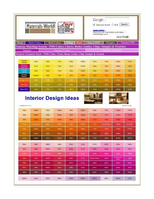 Pantone Matching System - PMS Colors, Charts - csanlorenzo