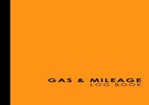 PDF TOP TREND Gas Mileage Log Book Keep Track of Your Car or