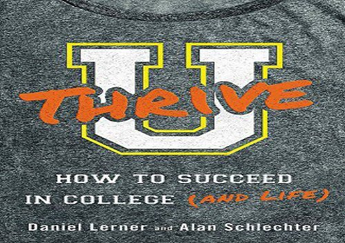 PDF TOP TREND U Thrive How to Succeed in College (and Life) PDF