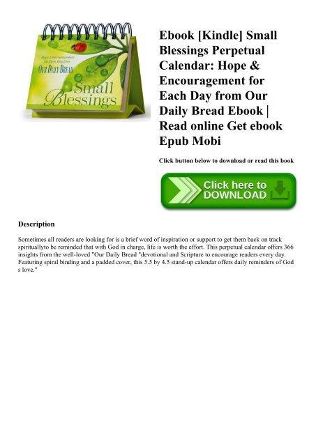 Ebook Kindle Small Blessings Perpetual Calendar Hope