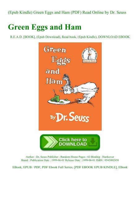 Epub Kindle) Green Eggs and Ham (PDF) Read Online by Dr Seuss
