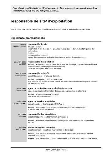 cv responsable maintenance industrielle pdf