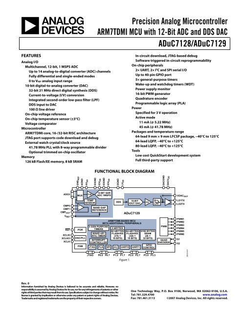 ADuC7128/ADuC7129 Precision Analog Microcontroller - mctnet