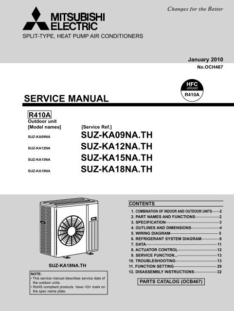 SERVICE MANUAL - Mitsubishi Electric Cooling  Heating
