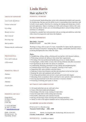 hairstylist resume sample student resume targeted at a