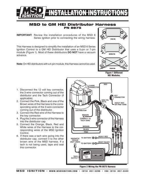 MSD to GM HEI Distributor Harness - MSD Ignition