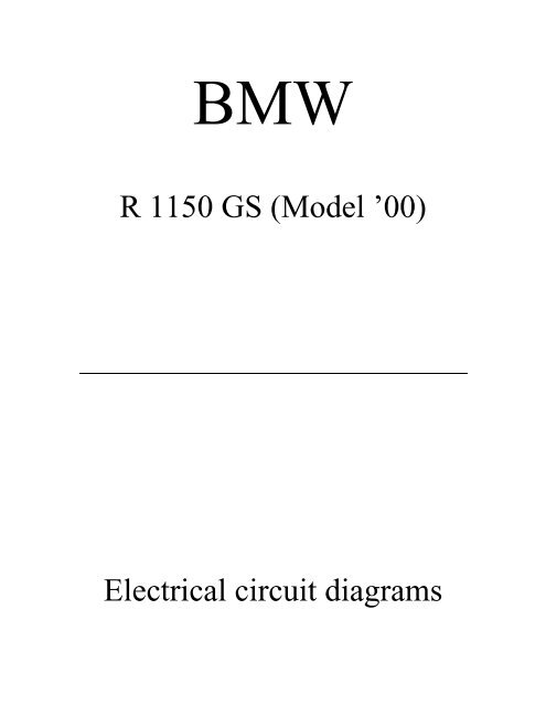 R 1150 GS (Model \u002700) Electrical circuit diagrams - BMW GS Club