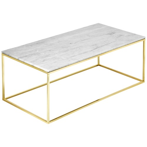 Couchtisch Modern Gold Estudio Furniture Como White Marble Coffee Table & Reviews