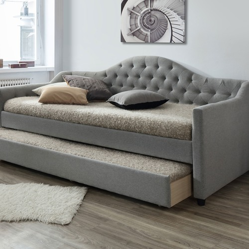 Single Day Bed Vic Furniture Grey York Single Day Bed Frame With Trundle