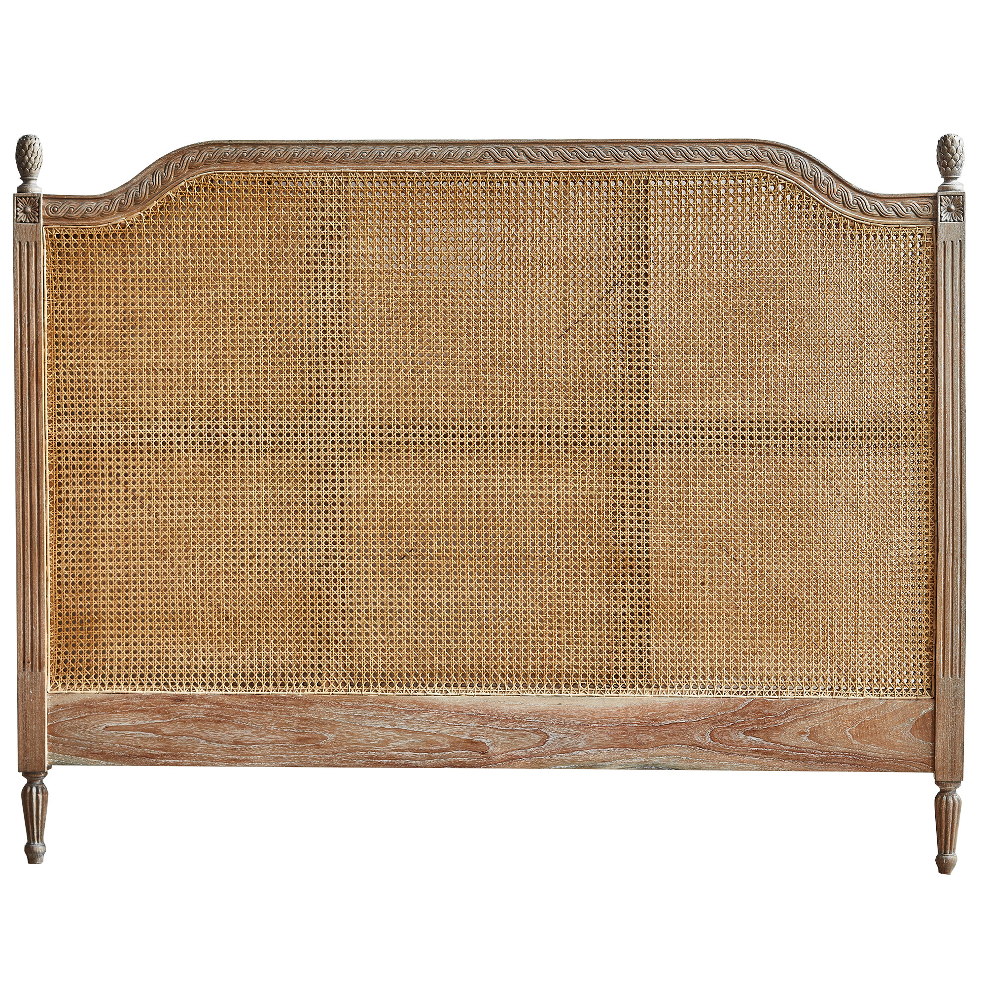 Black Mango Bed Heads New French Provincial Marseille Rattan Headboard