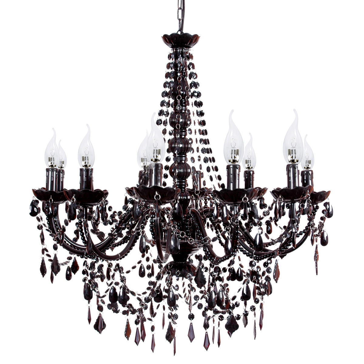 French Provincial Lighting Australia Cassie French Provincial 12 Arm Black Acrylic Chandelier