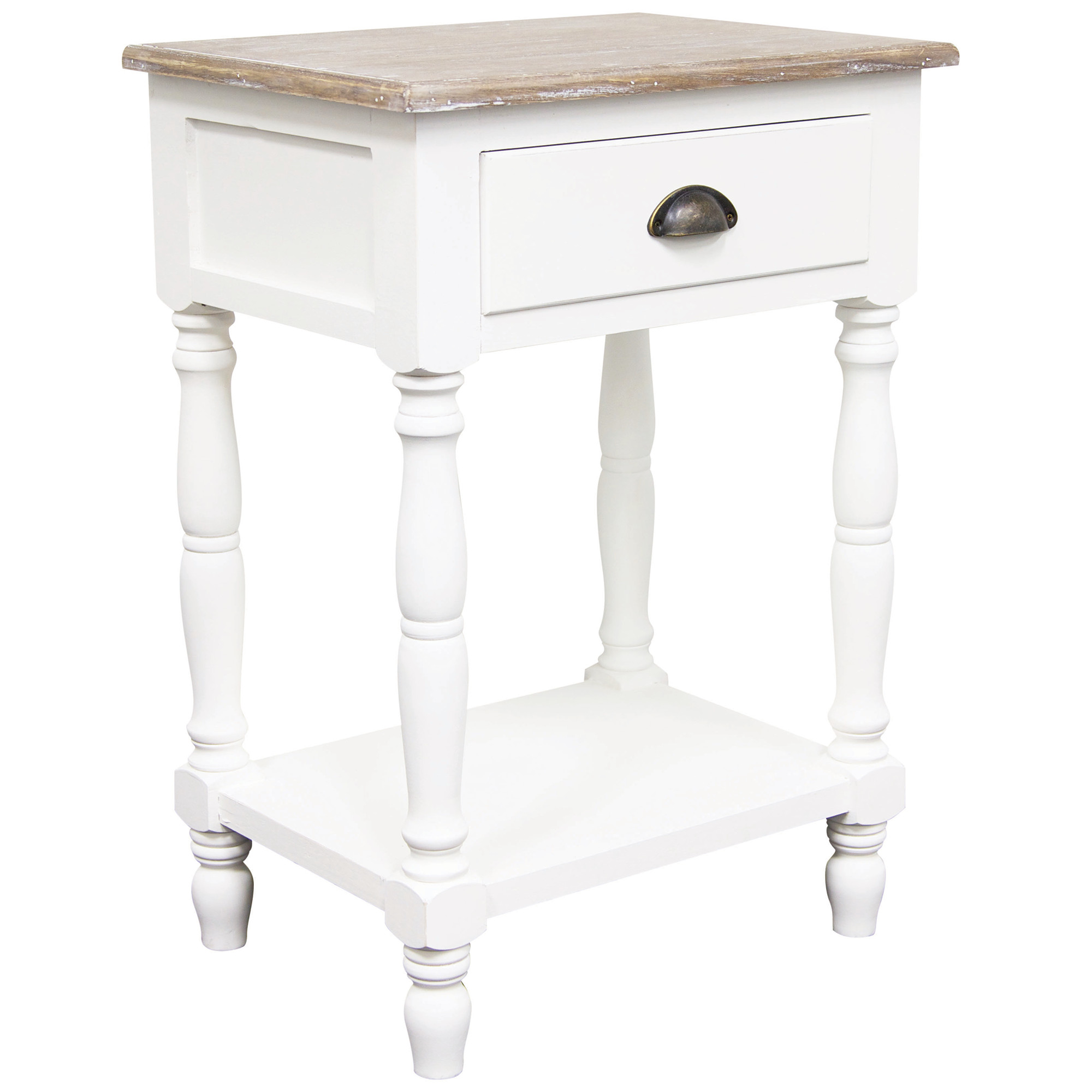 Provincial Bedside Tables White Maddie French Provincial Bedside Table